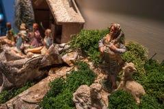 意大利传统Presepe诞生场面圣诞节 图库摄影