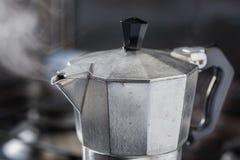 意大利传统咖啡机moka 库存图片