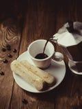 意大利传统咖啡机moka 图库摄影
