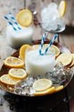 意大利传统柠檬冰糕 免版税库存图片