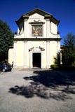 意大利伦巴第在cairate老教会关闭了砖 免版税图库摄影