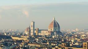 意大利佛罗伦萨放大到大教堂 影视素材