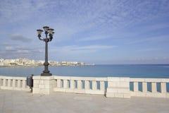 意大利假期-奥特朗托在Salento,普利亚 沿海岸区 免版税库存照片