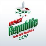 意大利共和国天,庆祝 库存照片