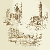 意大利农村风景 库存图片