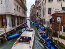 意大利出租汽车威尼斯水 库存照片