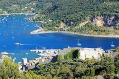 意大利利古里亚portovenere 库存图片