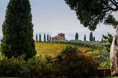 意大利别墅在乡下 库存图片
