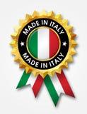 意大利制造徽章 库存照片