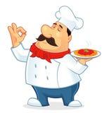 意大利厨师动画片 免版税图库摄影