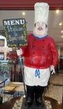 意大利厨师雕象 免版税库存照片