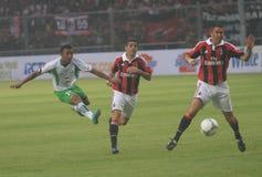 意大利和米兰足球俱乐部传奇科斯塔库塔和Carbone 库存图片