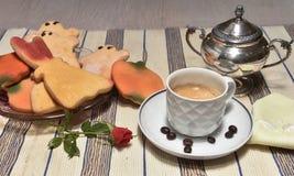 意大利咖啡万圣夜 库存照片