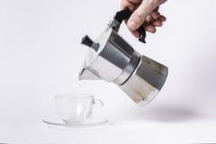 意大利咖啡壶 免版税库存图片