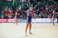 意大利国家节奏性体操队 库存图片