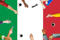 意大利国旗自由国家概念 免版税库存照片