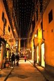 意大利圣诞节街道场面 库存照片