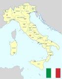 意大利地图 库存照片