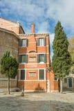 意大利城市的方形片段 免版税图库摄影