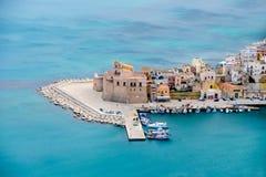 意大利城市视图 海景 免版税库存照片