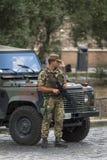 意大利士兵在罗马 免版税库存图片