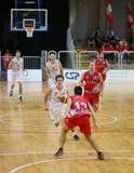 意大利威岑扎 2015年10月04th日, 在vi之间的篮球比赛 免版税库存照片