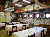 意大利家庭类型餐馆 库存照片