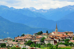 意大利小的村庄 库存图片