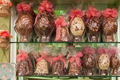 意大利巧克力复活节彩蛋 免版税库存图片