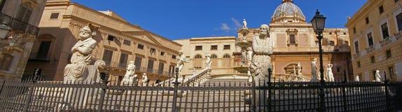 意大利巴勒莫全景西西里岛 免版税图库摄影