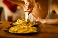 意大利巴马干酪意大利面食 免版税库存图片
