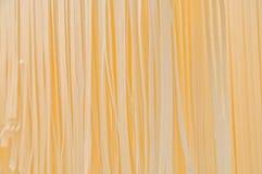 意大利平的黄色面团fettucini面条 库存图片