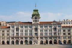 意大利广场的里雅斯特,意大利团结  免版税图库摄影