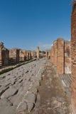 意大利庞贝城废墟 图库摄影