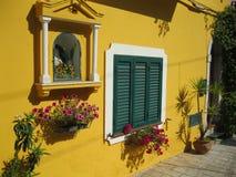 意大利庭院。西西里岛。 库存图片