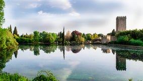 意大利庭院 库存照片