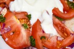 意大利开胃小菜无盐干酪熏火腿carpaccio 库存图片