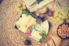 意大利开胃小菜板材 免版税库存照片