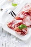 意大利开胃小菜用波隆纳熟香肠  免版税库存照片