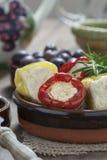 意大利开胃小菜用胡椒 库存照片