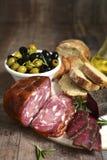 意大利开胃小菜的分类 库存图片