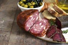 意大利开胃小菜的分类 库存照片