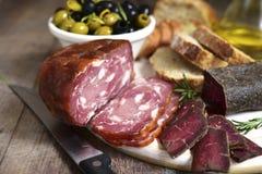 意大利开胃小菜的分类 免版税库存照片