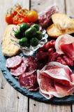 意大利开胃小菜 免版税库存照片