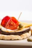 意大利开胃菜侧视图  免版税库存图片