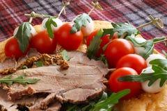 意大利开胃菜快餐 免版税库存照片