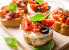 意大利开胃菜bruschetta 免版税图库摄影