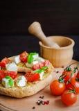 意大利开胃菜Friselle 免版税库存照片