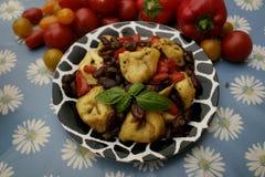 意大利式饺子用豆 库存图片