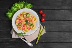 意大利式饺子食物照片 免版税库存照片